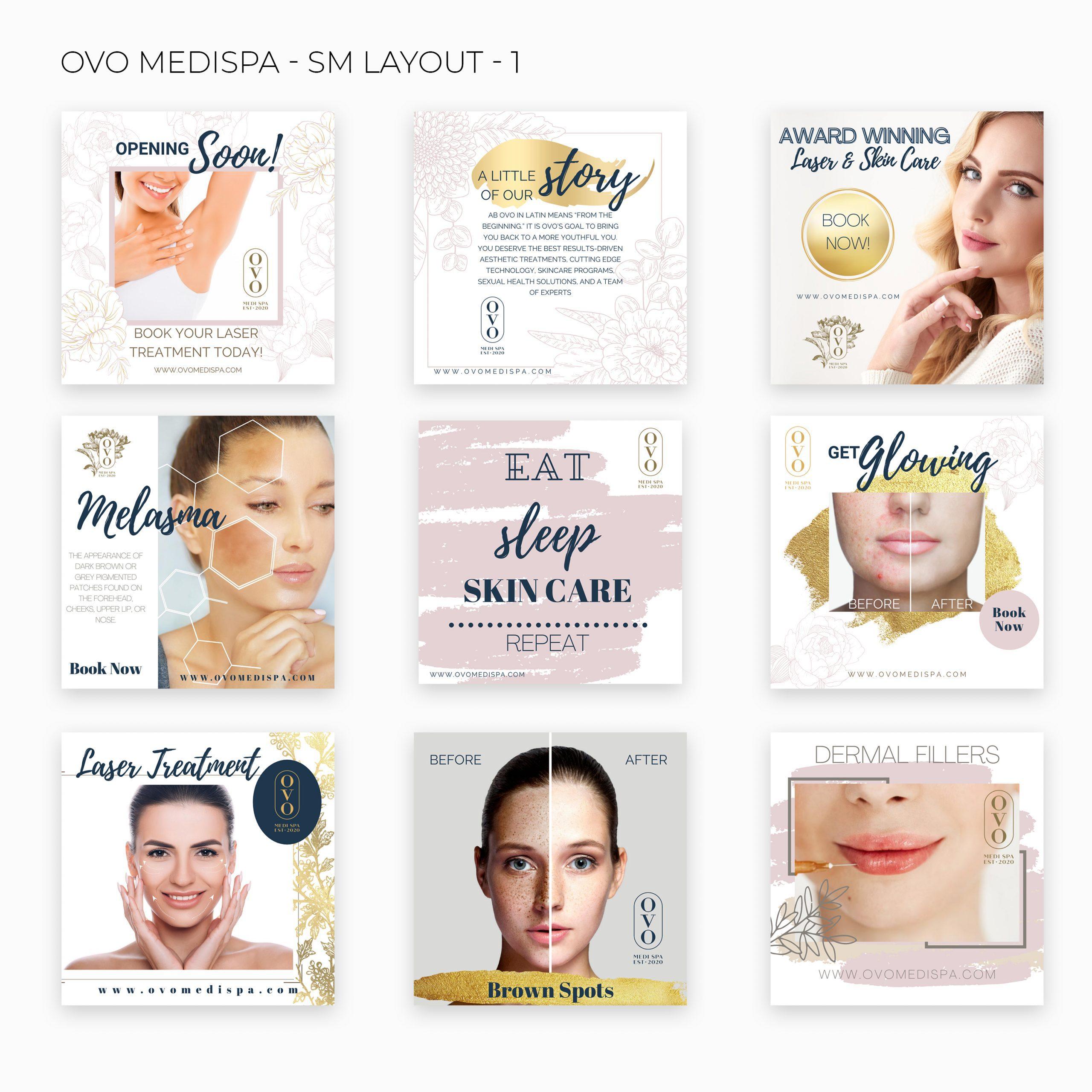OVO Medi Spa – SM Layout – Website